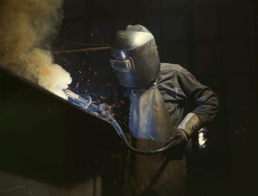 Steel fabrication in process