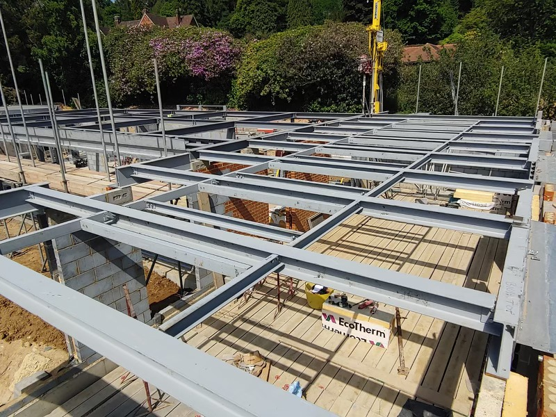 Steel Frame for a Pool Building