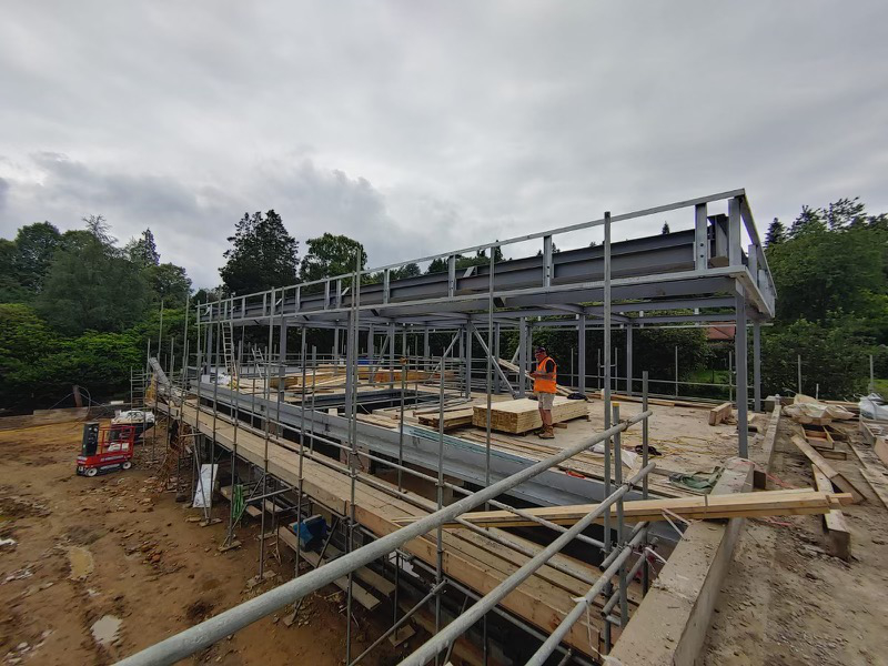 Second Storey of Poolhouse Building